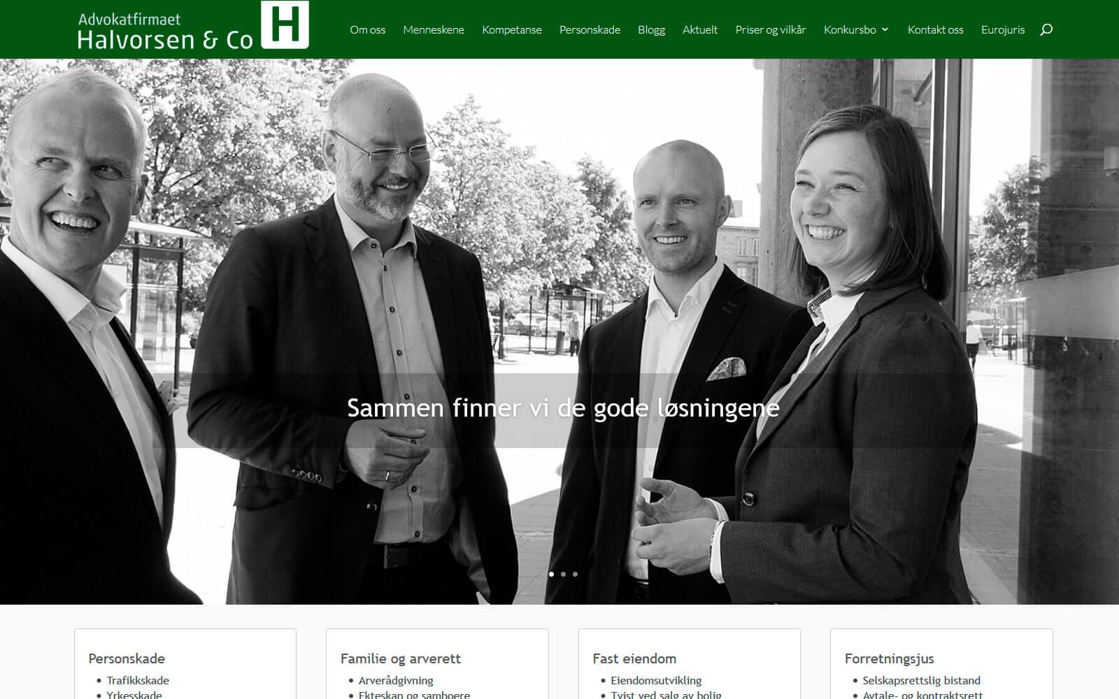 Advokatfirmaet Halvorsen & Co webside