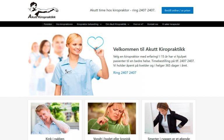 Akutt Kiropraktikk webside