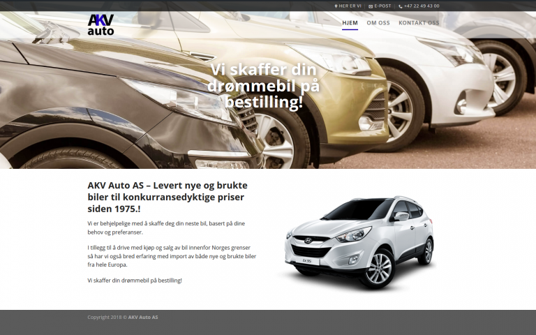 AKV Auto wordpress side
