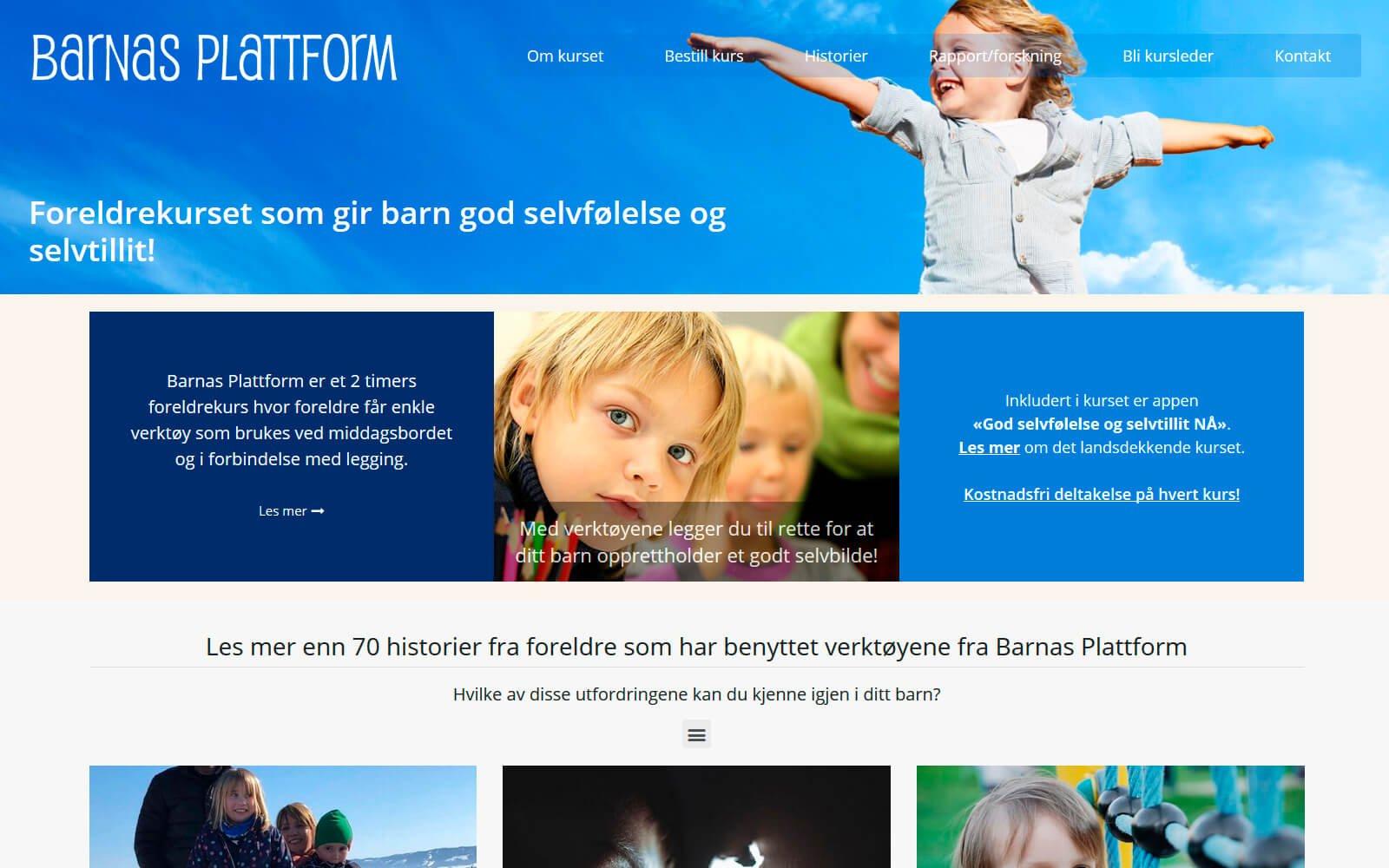 Barnas Plattform webside