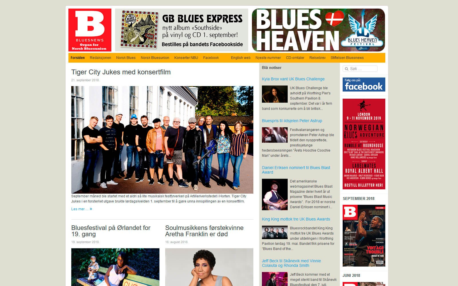 Bluesnews webside