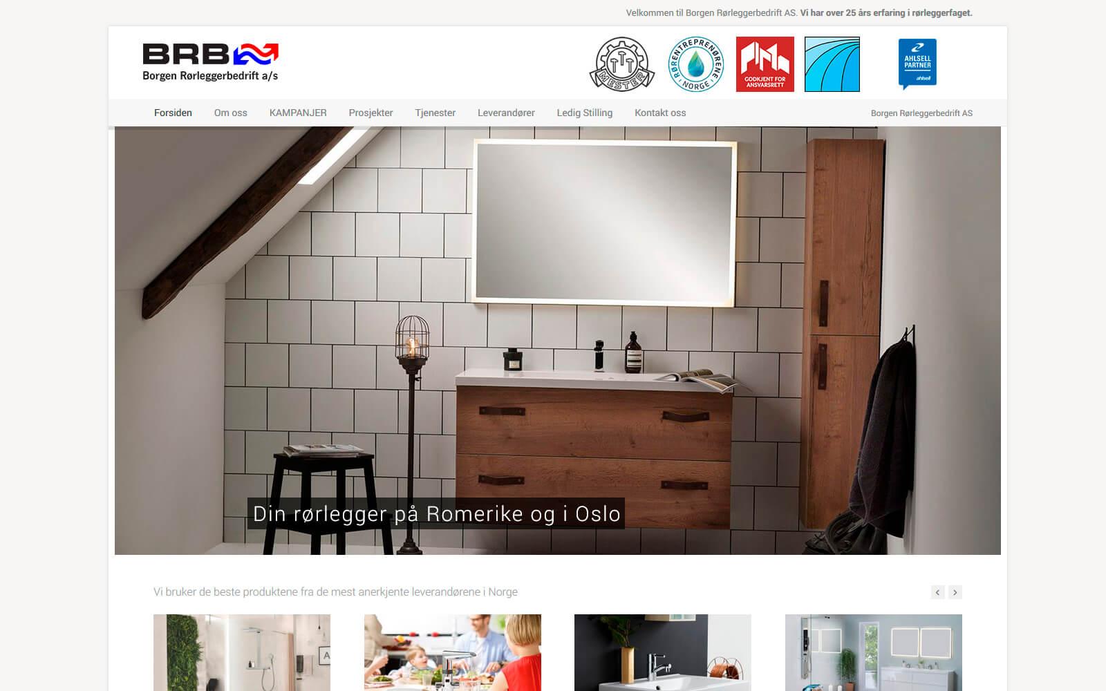 Borgen Rørleggerbedrift webside