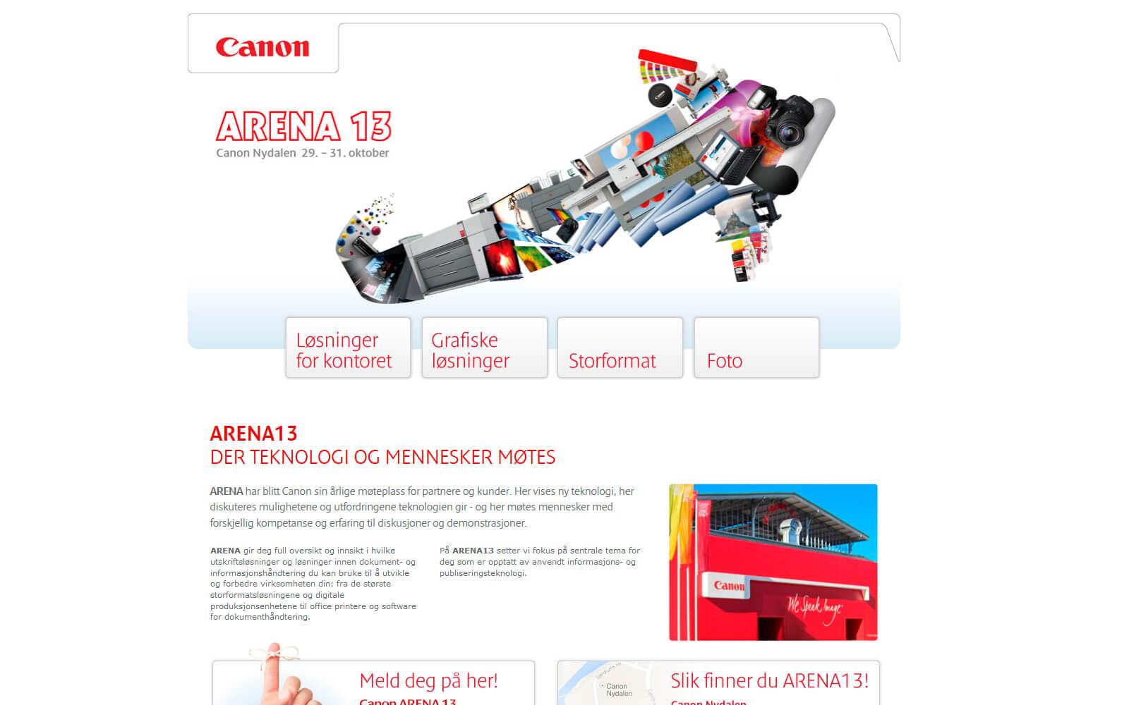 Canon Arena 2013 arrangementside