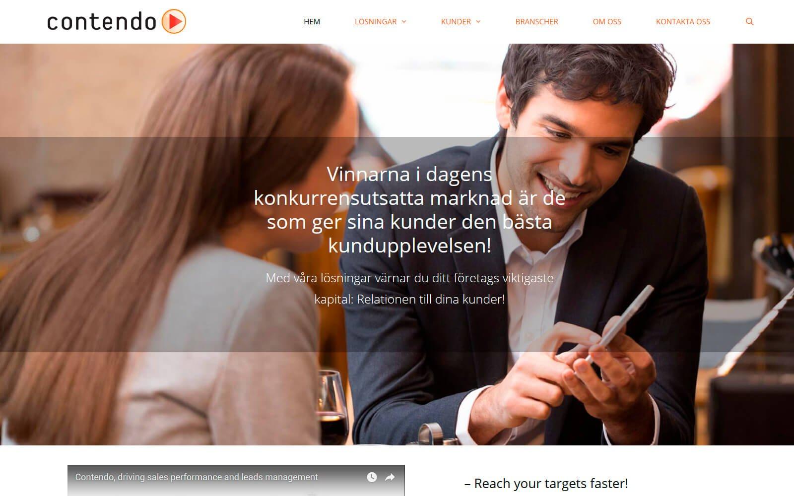 Contendo Sverige webside