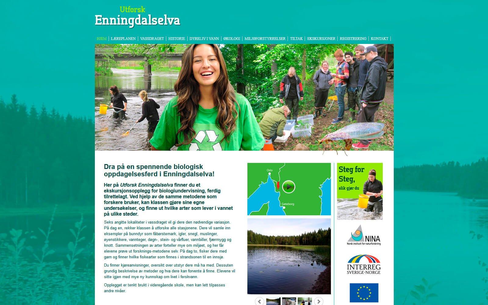 Enningdalselva webside