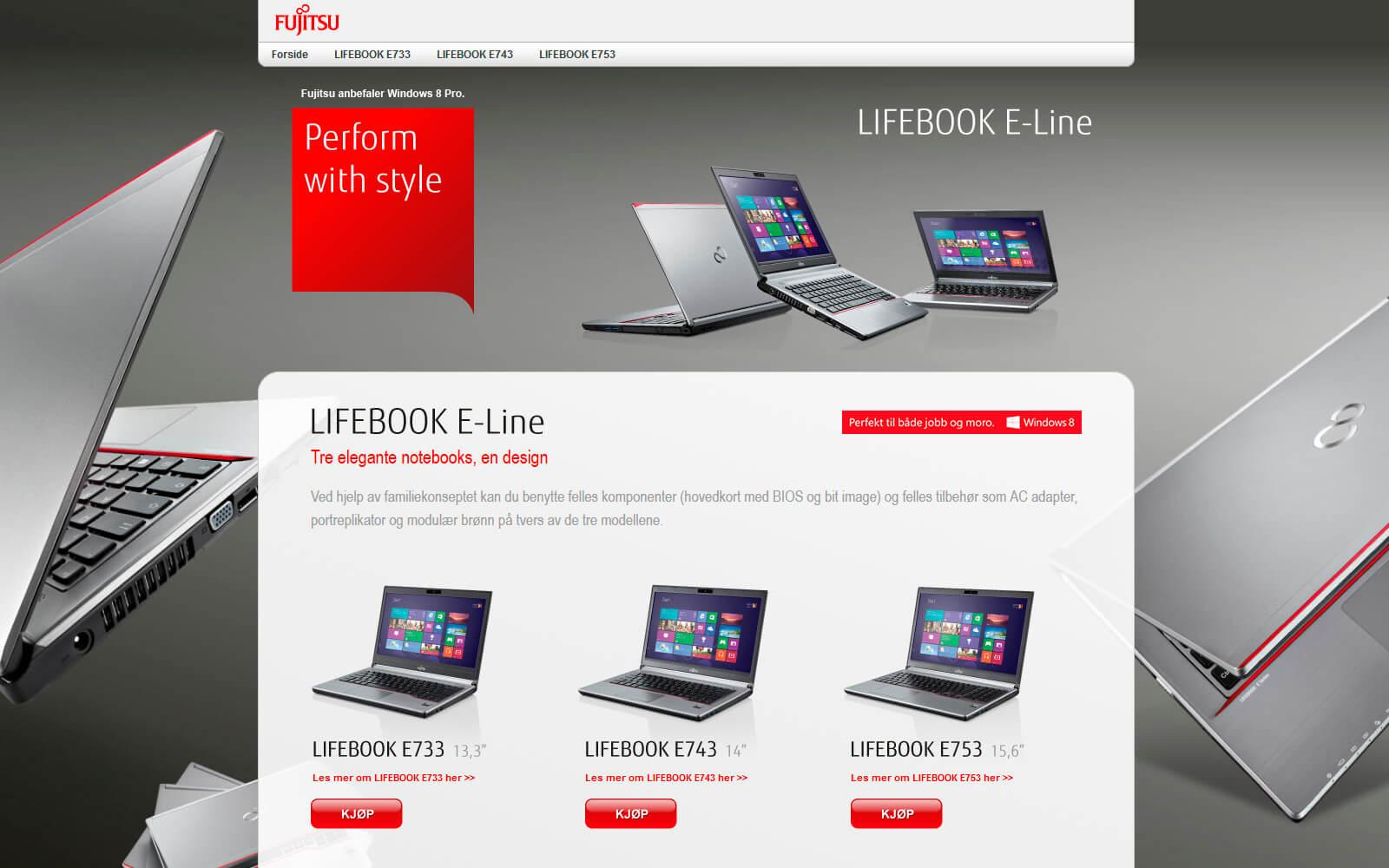Fujitsu kampanje webside
