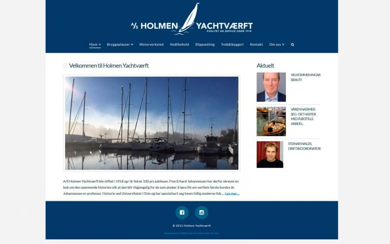 Holmen Yachtværft webside
