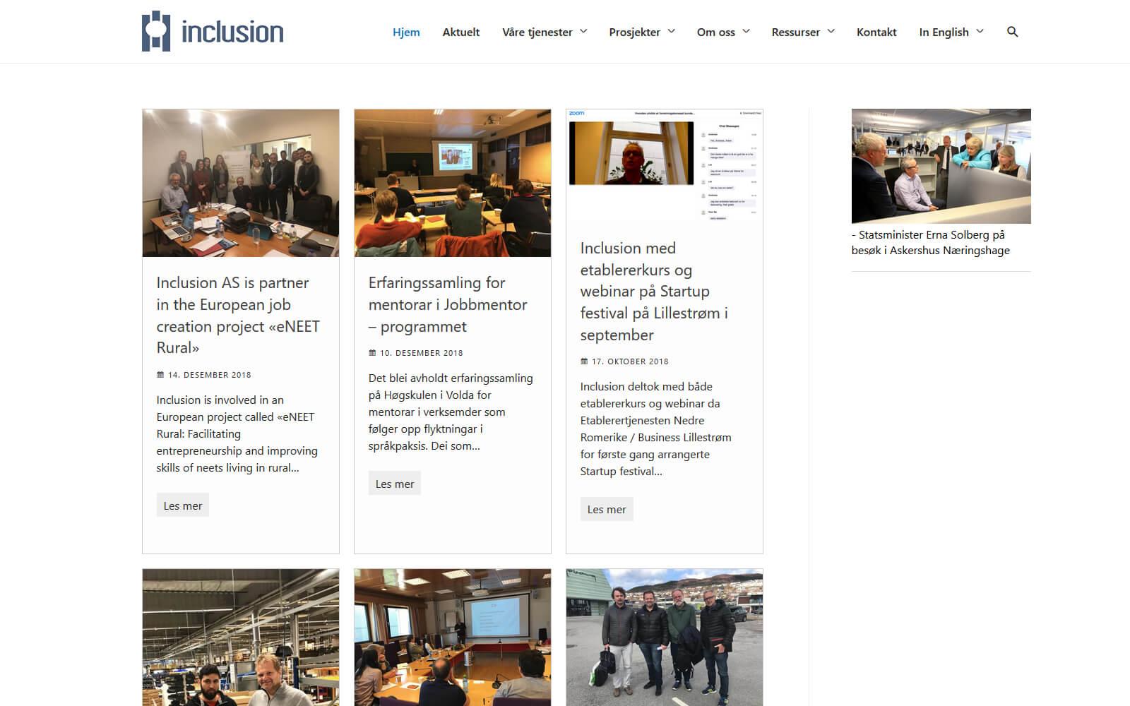 Inclusion webside.