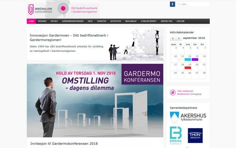 Innovasjon Gardermoen webside