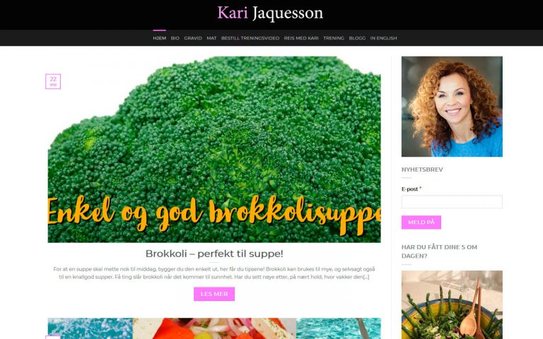 Kari Jaquesson webside