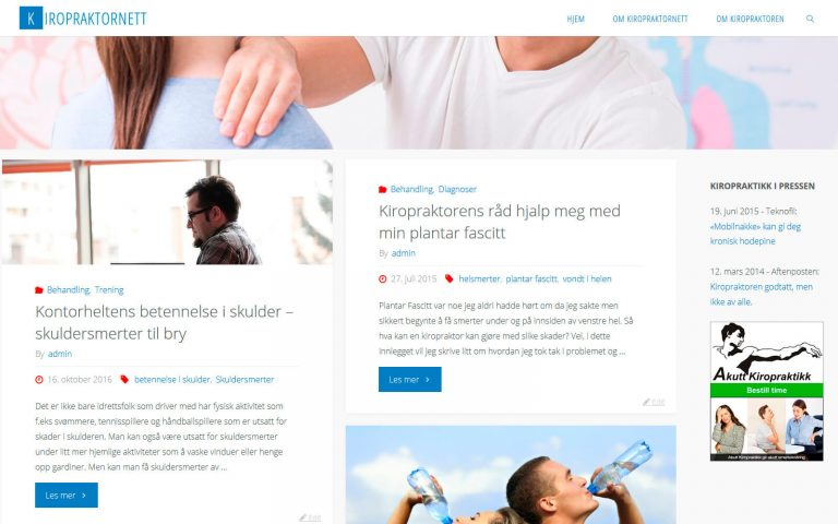 Kirorpraktornett webside