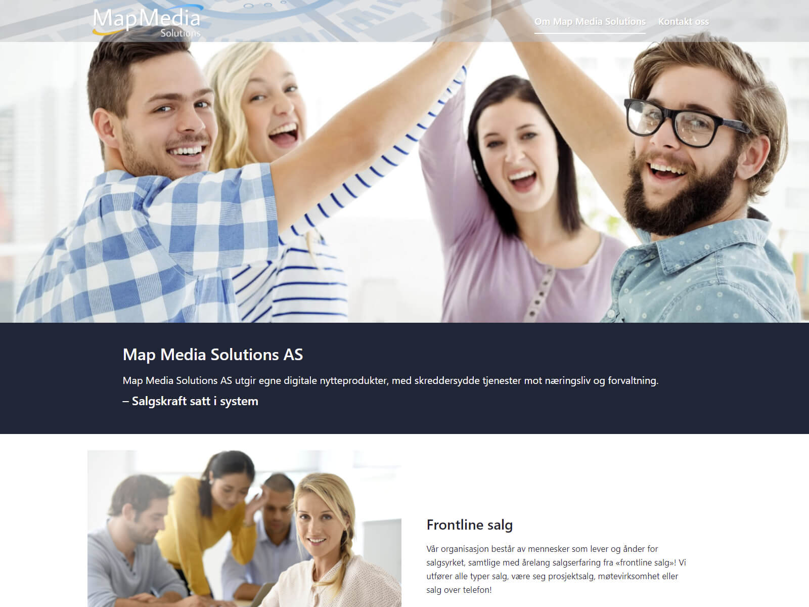 Map Media Solutions webside