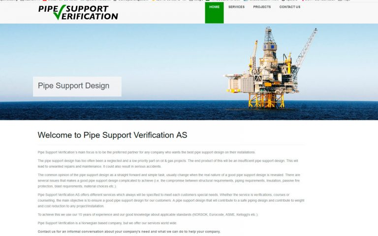 Pipe Support Verification webside