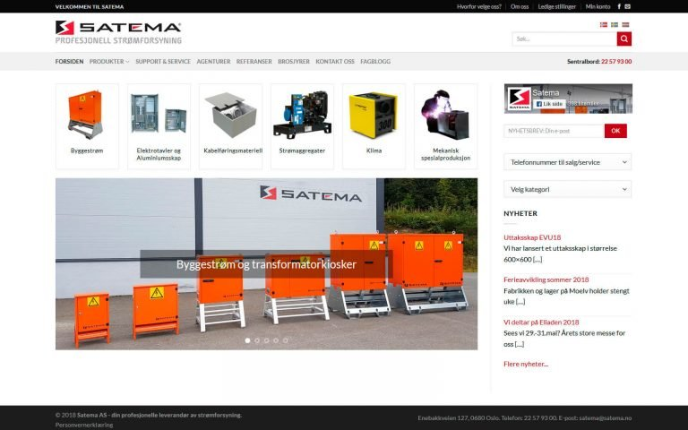Satema webside