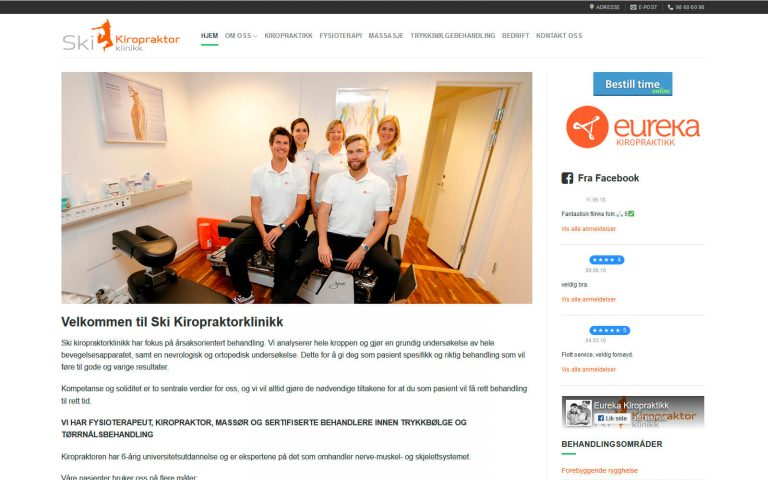 Ski Kiropraktor webside