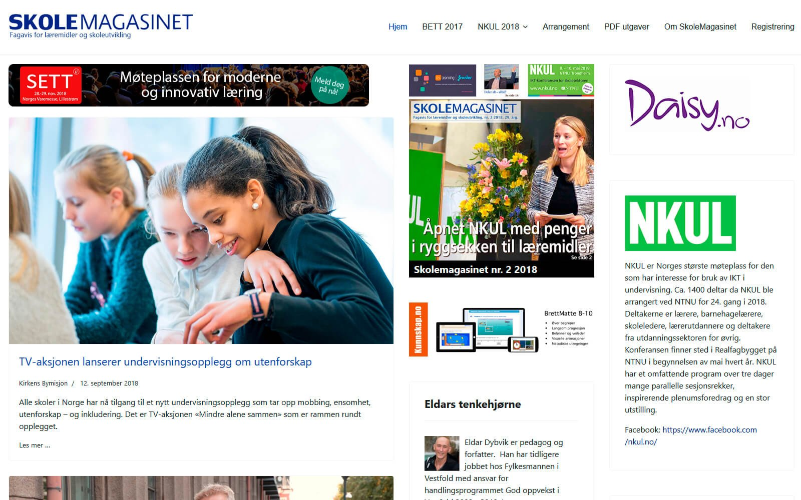 Skolemagasinet web