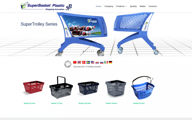 Superbasket WordPress webside
