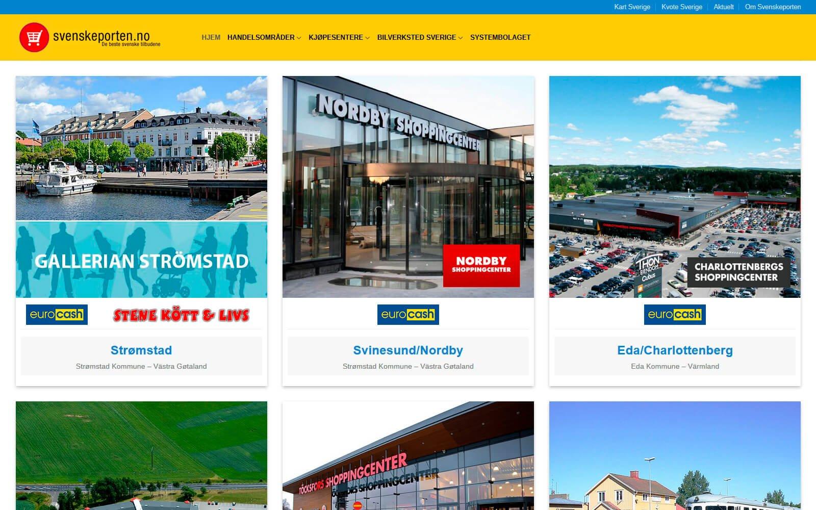 Svenskeporten webside