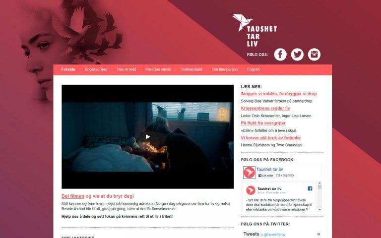 Taushet tar liv webside