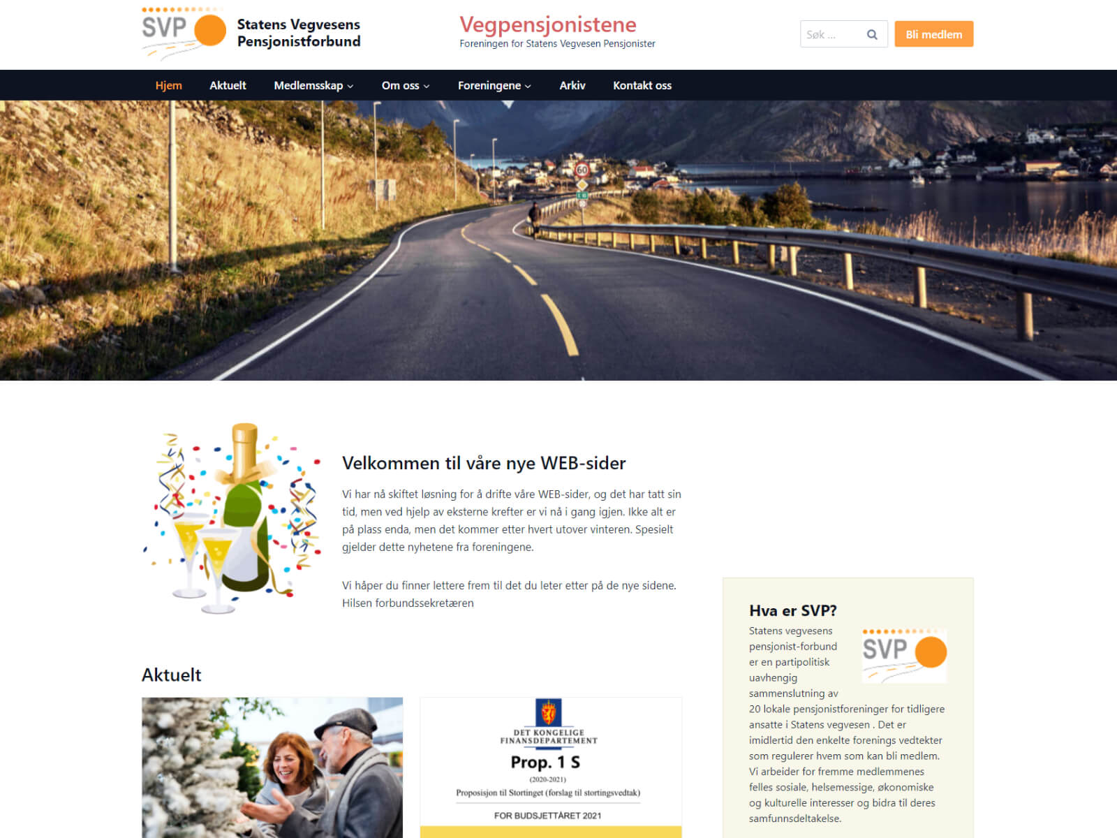 Statens Vegvesens Pensjonistforbund webside