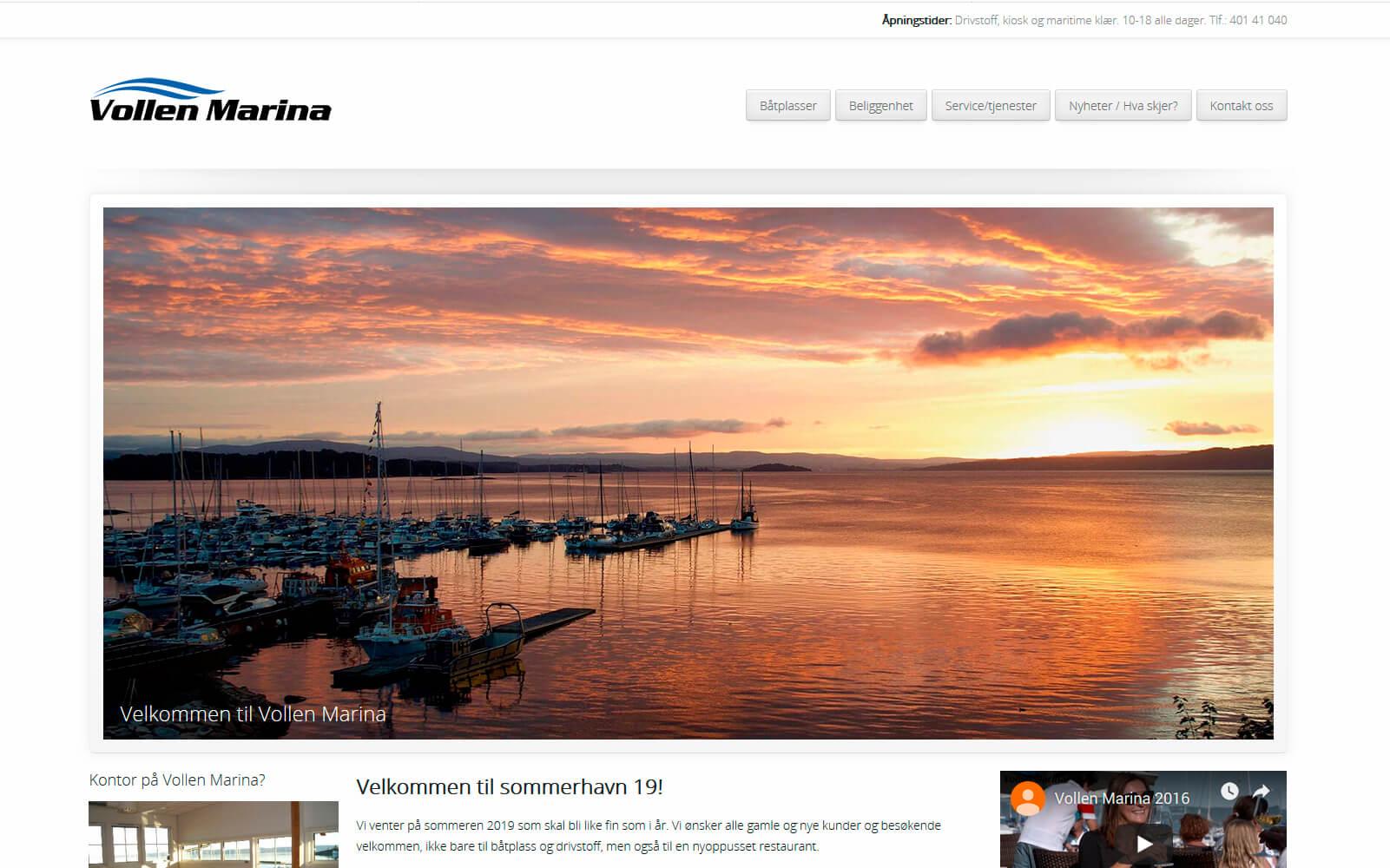 Vollen Marina web