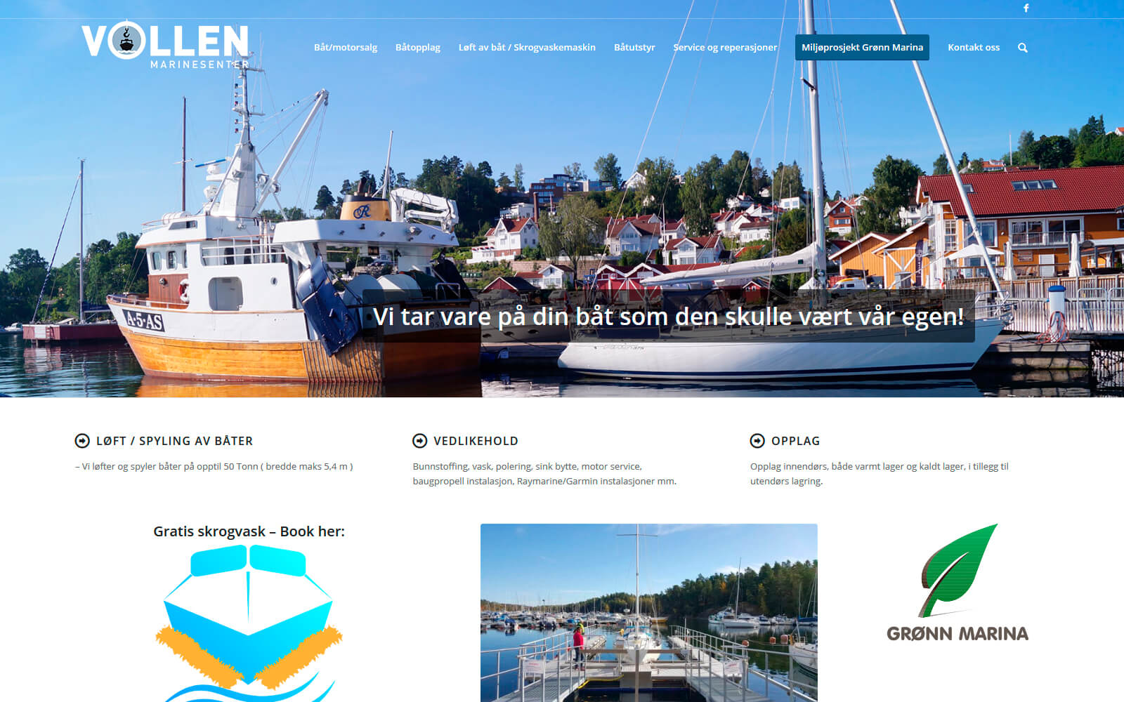 Vollen Marinesenter webside